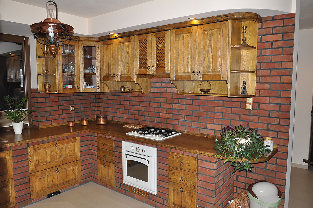 Kuchnie d bowe revia kuchnie d bowe z litego drewna for Muebles de cocina de ladrillos imagenes